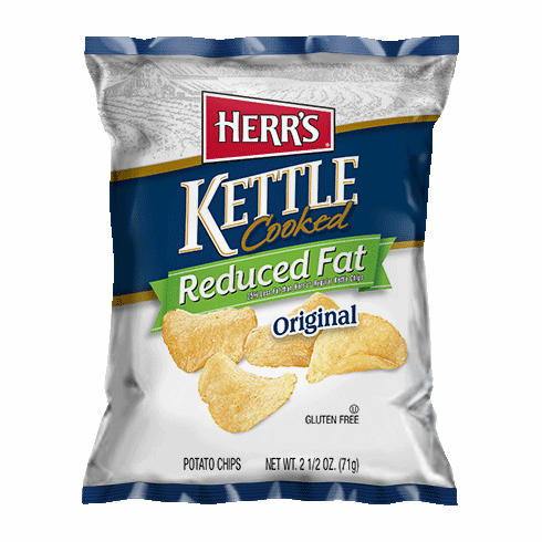 Herr's® Reduced Fat Kettle Cooked Potato Chips (24) 2.5 oz. bags<br> per case