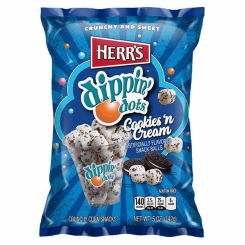 Herr's&reg; Dippin Dots Cookies 'n Cream Snack Balls (12) 5 oz. bags per<br>case
