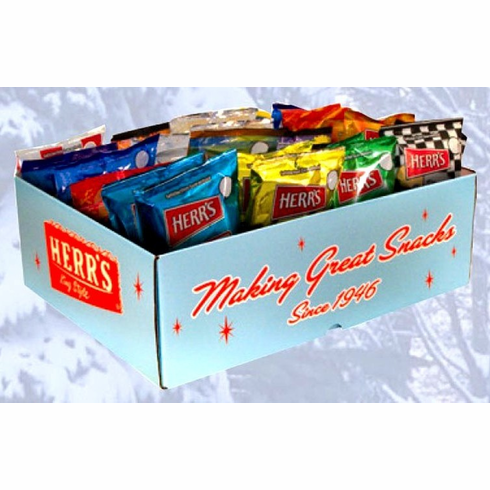 Herr's® Retro Gift Box filled with 38 (1oz) assorted snacks