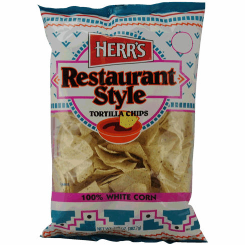 Herr's® Restaurant Style White Corn<br>Tortilla Chips - 13 oz