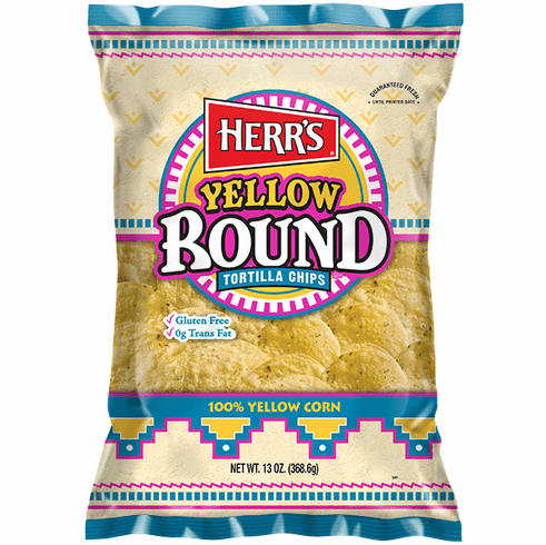 Herr's® Yellow Round Tortilla (8)<br> 13 oz. bags per case