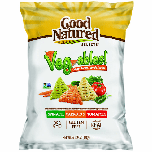 New Good Natured Selects Veg-ables!  Crispy, Potato/Veggie Snack  (11)- 4.5 oz. bags per case.