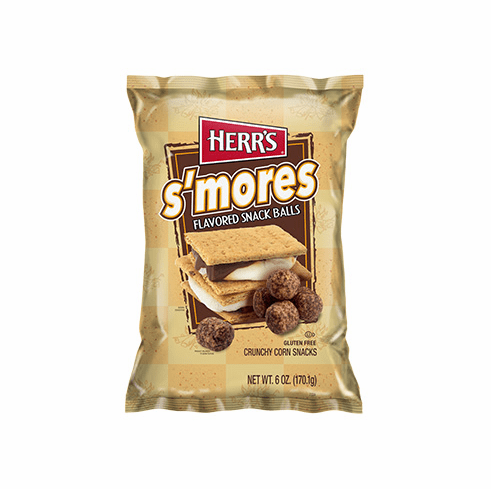 New Herr's® s'mores Snack Balls 6 oz. bags (12 bags per case)