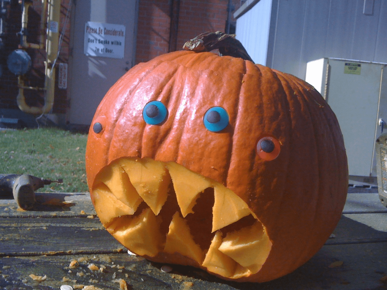 A Monster With Four Candy Eyes