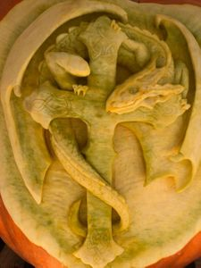 Celtic Dragon Pumpkin