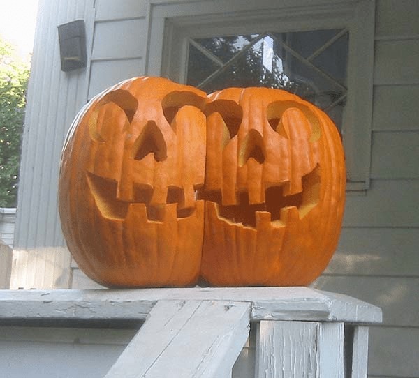 Cojoined Twins Pumpkins