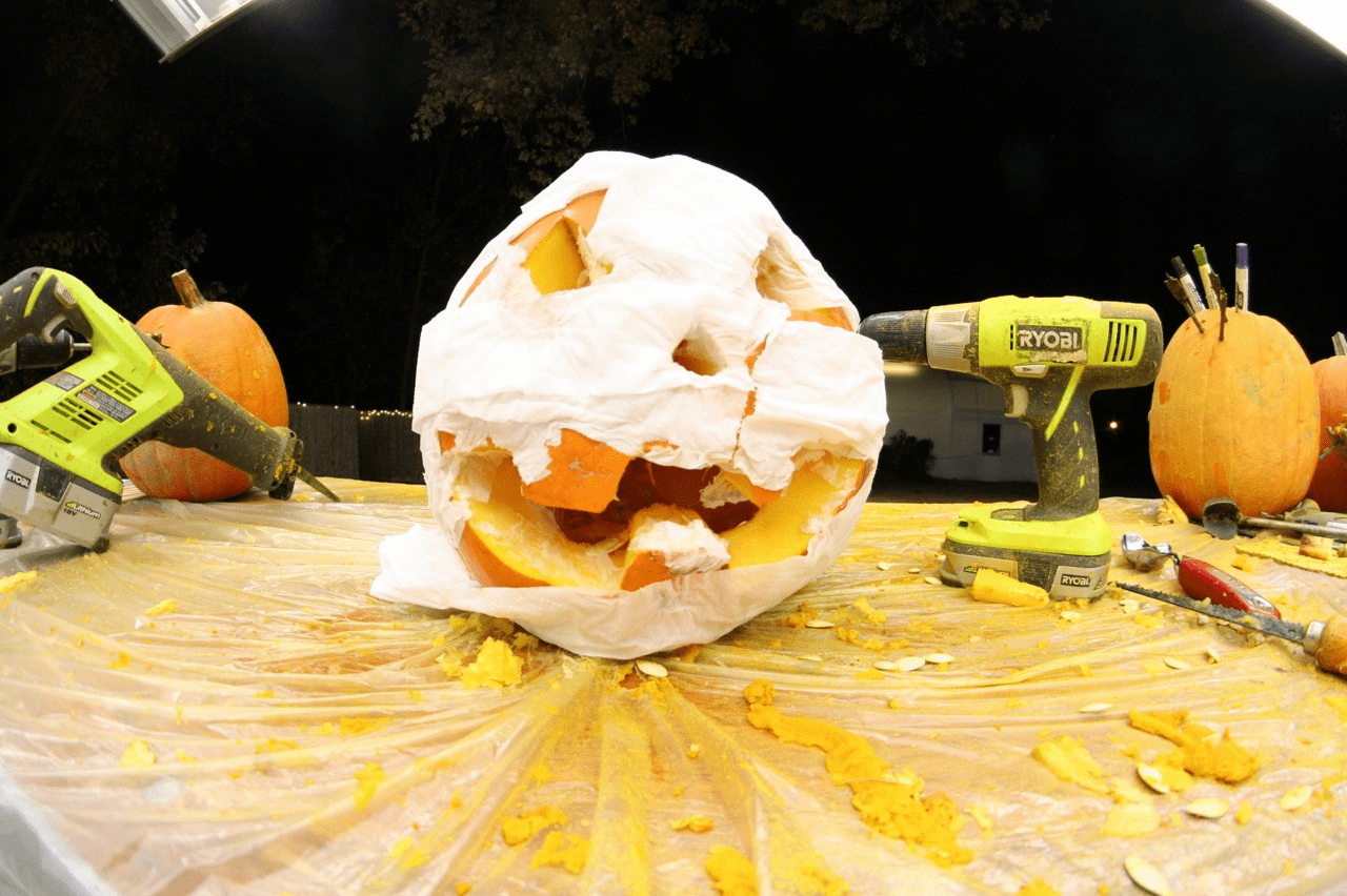 Easy - Make A Mummy Pumpkin With Toilet Paper