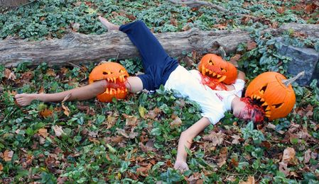 Nate Is Attacked by the Pumpkins