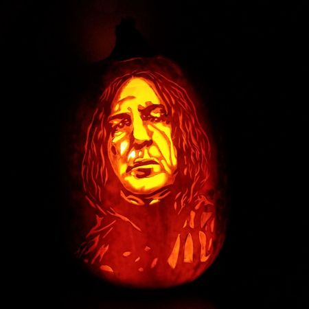 The Professor Snape / Crying Indian Pumpkin
