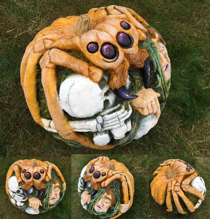 Killer Spider Pumpkin