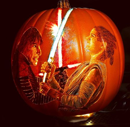 Light Saber Battle Pumpkin