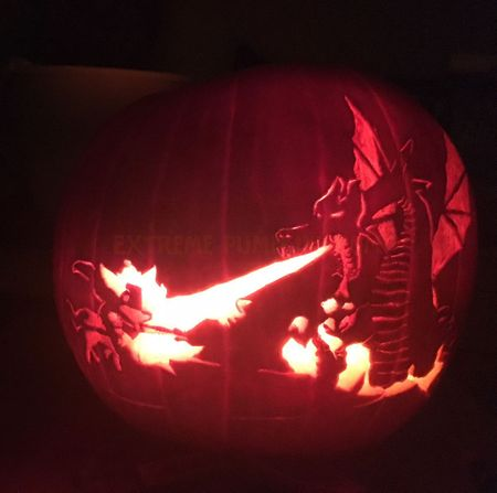 Dragon Torching Knight Pumpkin