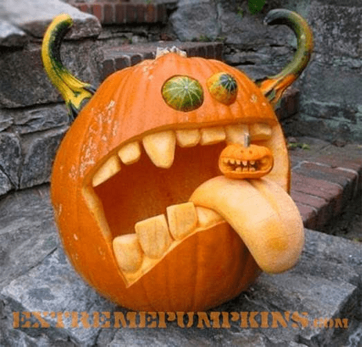 Silly Ghoul Pumpkin
