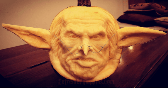 Angry Orc Pumpkin