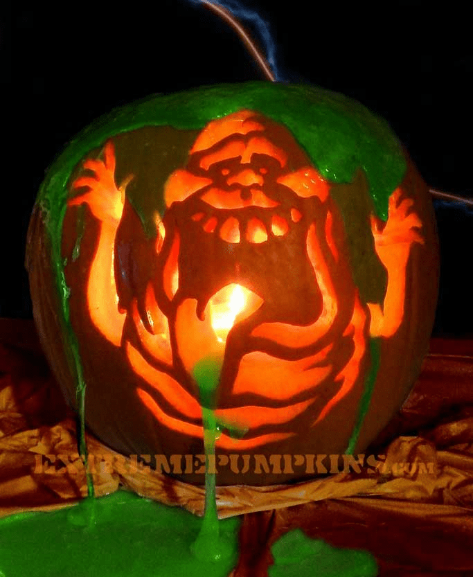 Slimer (from Ghostbusters) Pumpkin