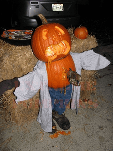 The Stabbed Hillbilly Pumpkin