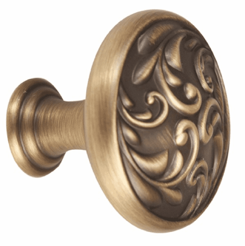 "1 1/4"" Knob ANTIQUE ENGLISH MATTE by Alno A3651-14-AEM ORNATE"