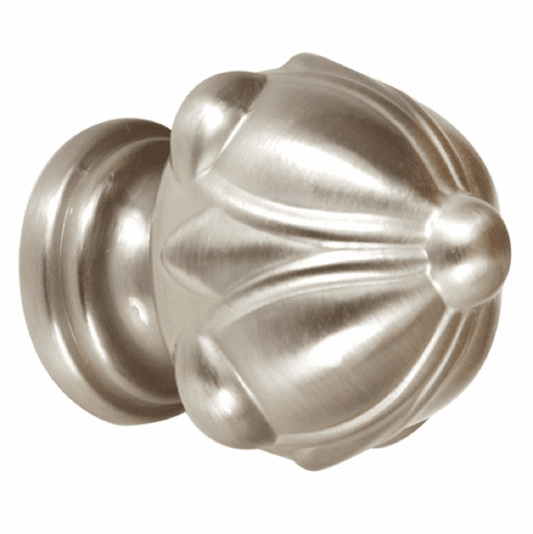 "1 1/4"" Knob SATIN NICKEL by Alno A6929-14-SN ORNATE"