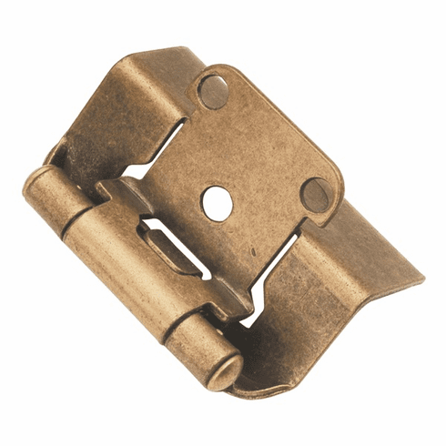 """Hickory Hardware P5710F-AB Self-Closing Semi Concealed Wrap Hinges Hinge, 1/2"""" Overlay, Full Wrap Antique Brass"""