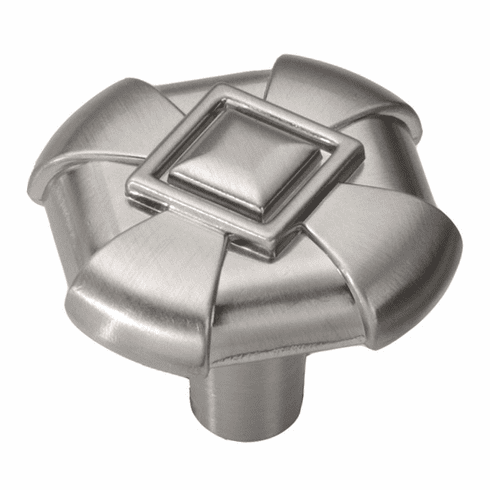 """Hickory Hardware P3455-SS Chelsea Knob, 1-1/8"""" Square. Stainless Steel"""