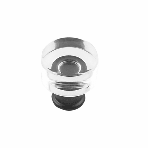 """Hickory Hardware P3708-CAMB Midway Knob, 1"""" Dia. Crysacrylic With Matte Black"""