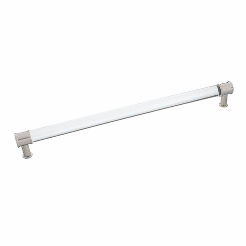 """Hickory Hardware P3711-CASN Midway Pull, 12"""" C/C Crysacrylic With Satin Nickel"""