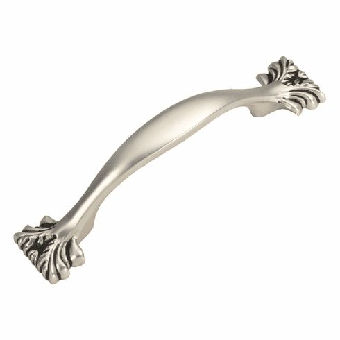 """Hickory Hardware P3431-SAS Ithica Pull, 3"""" C/C Satin Antique Silver"""