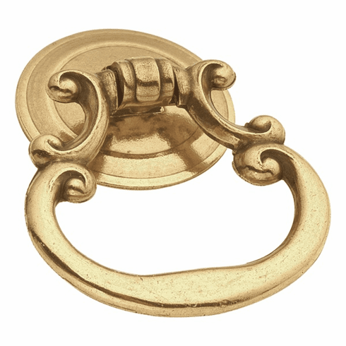 """Hickory Hardware P8018-LP Manor House Ring Pull, 1-7/8"""" X 1-1/2"""" Lancaster Hand Polished"""