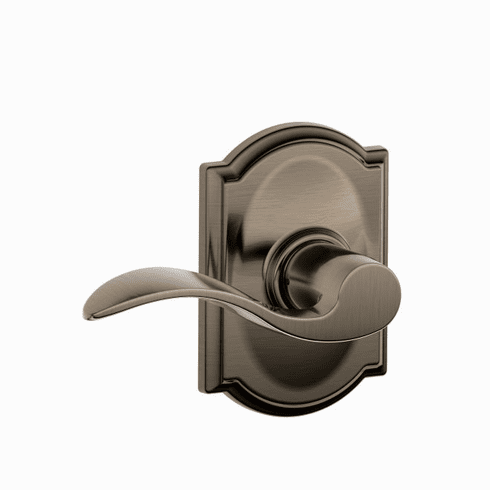 SCHLAGE RESIDENTIAL F10-ACC-620-CAM F10 Accent Passage Lever Lock With Camelot Trim F10ACC620CAM F10 ACC 620 CAM