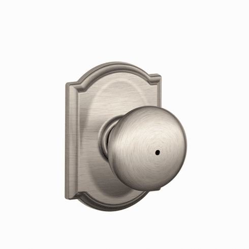 SCHLAGE RESIDENTIAL F40-PLY-619-CAM F40 Plymouth Privacy Knob Lock With Camelot Trim F40PLY619CAM F40 PLY 619 CAM