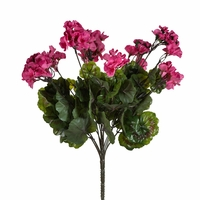 "21"" Outdoor Artificial Geranium Bush"