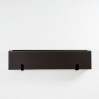 "30"" Modern Bronze Tone Fiberglass Window Box"