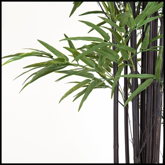 86in. Black Bamboo Cluster in Weighted Base, Indoor Rated