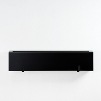 "48"" Modern Black Fiberglass Window Box"