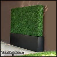 Boxwood Outdoor Artificial Hedges with Modern Planters 60in.L x 12in.W