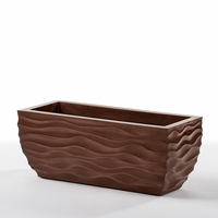 Modern Wave Copper Planter Boxes