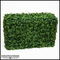 English Ivy Outdoor Artificial Hedge 60inL x 12inW