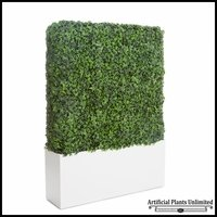 English Ivy Outdoor Artificial Hedge in Modern Planter 60inL x 12inW