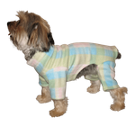 Toy & Teacup Fleece Jammies - Aqua/Pink Plaid