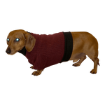 Dachshund Heavy Fleece Sweater - Dark Beet