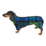Dachshund Indoor/Outdoor Bodysuit -  Blackwatch Plaid