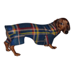 Dachshund Indoor/Outdoor Bodysuit - Dark Plaid