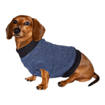 Dachshund Fleeced Sweater - Denim