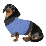 Dachshund Fleeced Sweater - French Blue