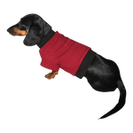 Dachshund Fleeced Sweater - Pomegranite