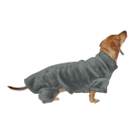 Dachshund Windblock Fleece Bodysuit - Forge Grey