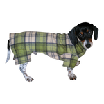 Dachshund Indoor/Outdoor Bodysuits - Grass Plaid