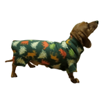 Dachshund Indoor/Outdoor Bodysuit - Hunter Holiday Trees