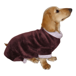 Dachshund Windblock Fleece Bodysuit - Plum