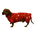 Dachshund Indoor/Outdoor Bodysuit - Winter Snowflakes